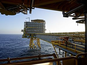 Moller-Maersk's oil rig in the North Sea