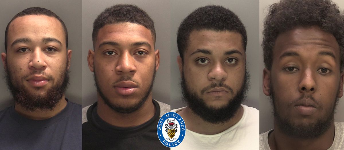 Dior Jackson, Ihsaan Bernard, Omarni Bernard-Sewell and Ayuub Mahmood were found guilty of conspiracy to murder and possessing a gun with intent to endanger life (Image by West Midlands Police)