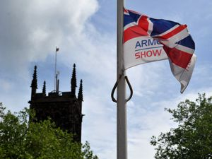 The Armed Forces Flag is raised in Wolverhampton