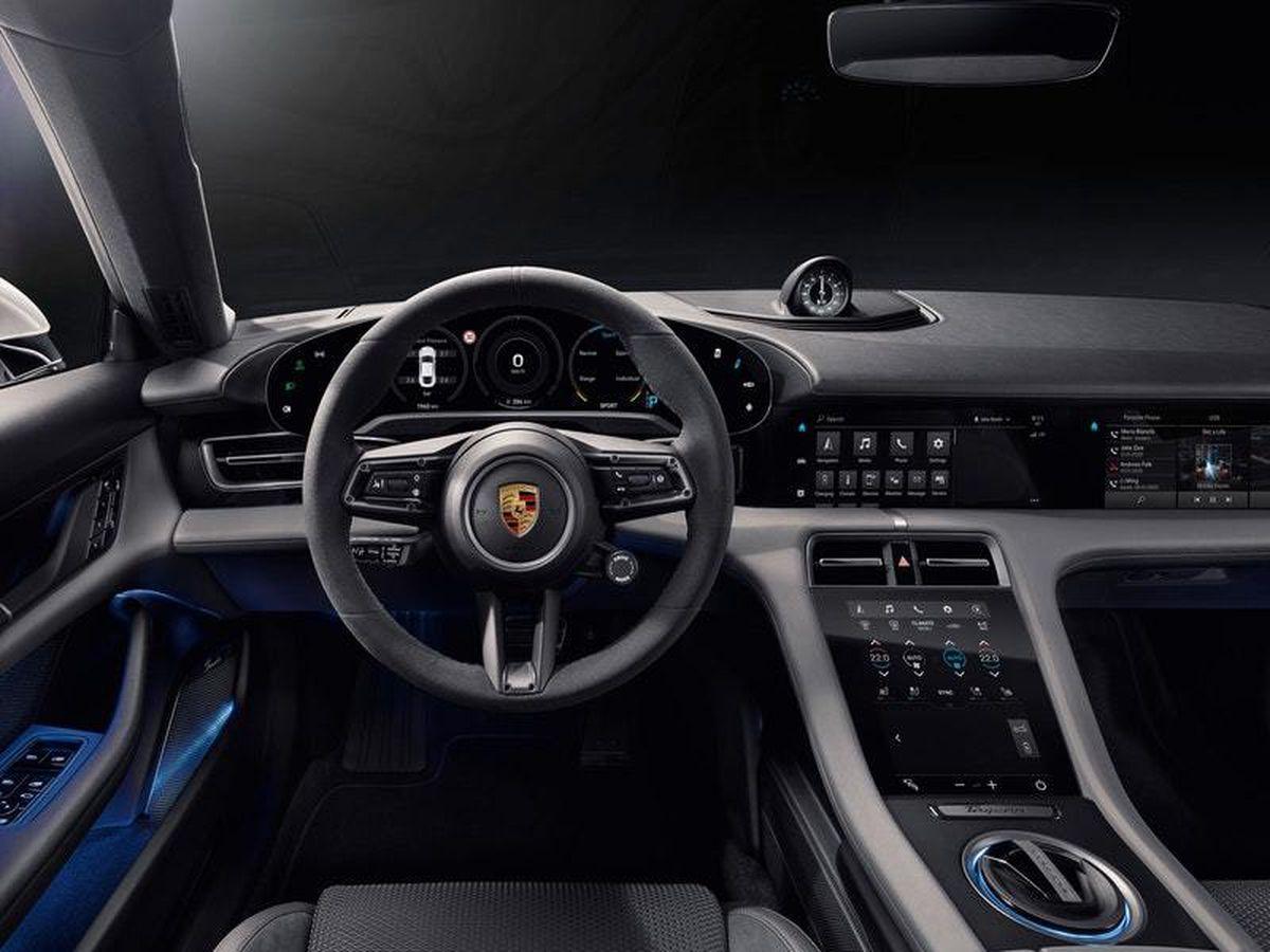 Porsche reveals Taycan interior with a heavy screen presence