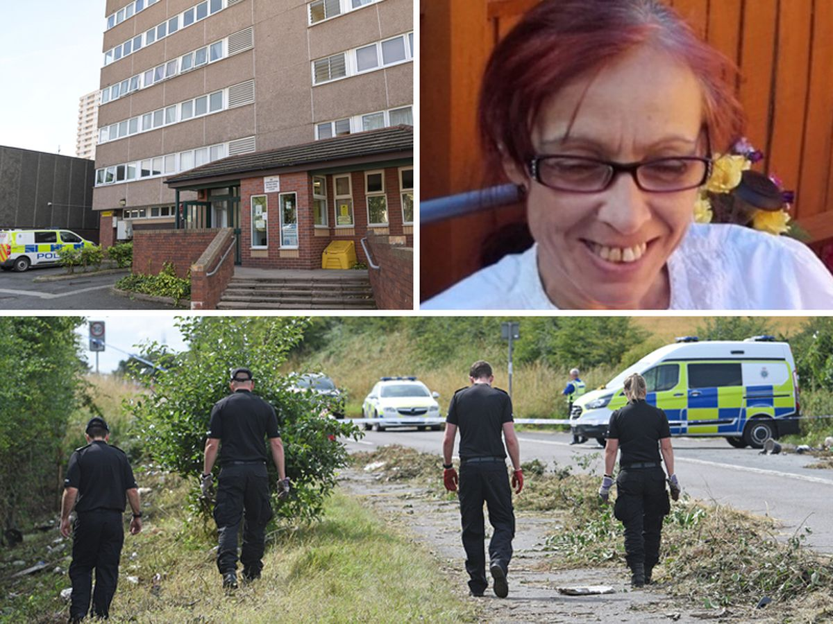 Police at Bridgnorth Road, bottom, and in Heath Town, top left, after the murder of Jomaa Jerrare. Photos: Tim Thursfield and SnapperSK