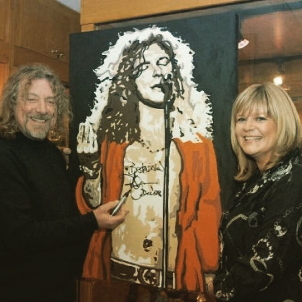 Sue with Robert Plant