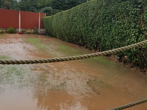 Raw sewage flooded this and neighbouring gardens on the A5 near Cannock this morning.