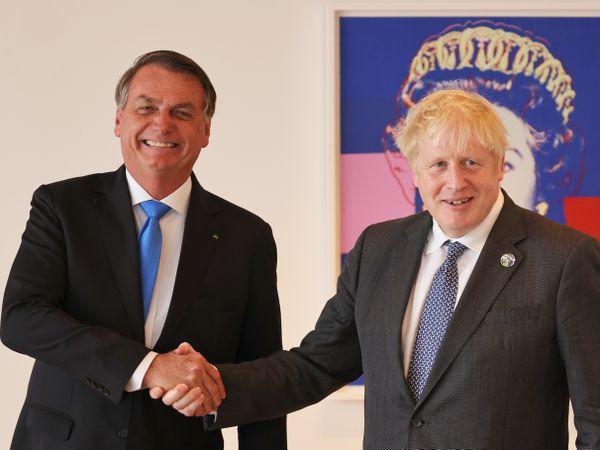 Jair Bolsonaro and Boris Johnson