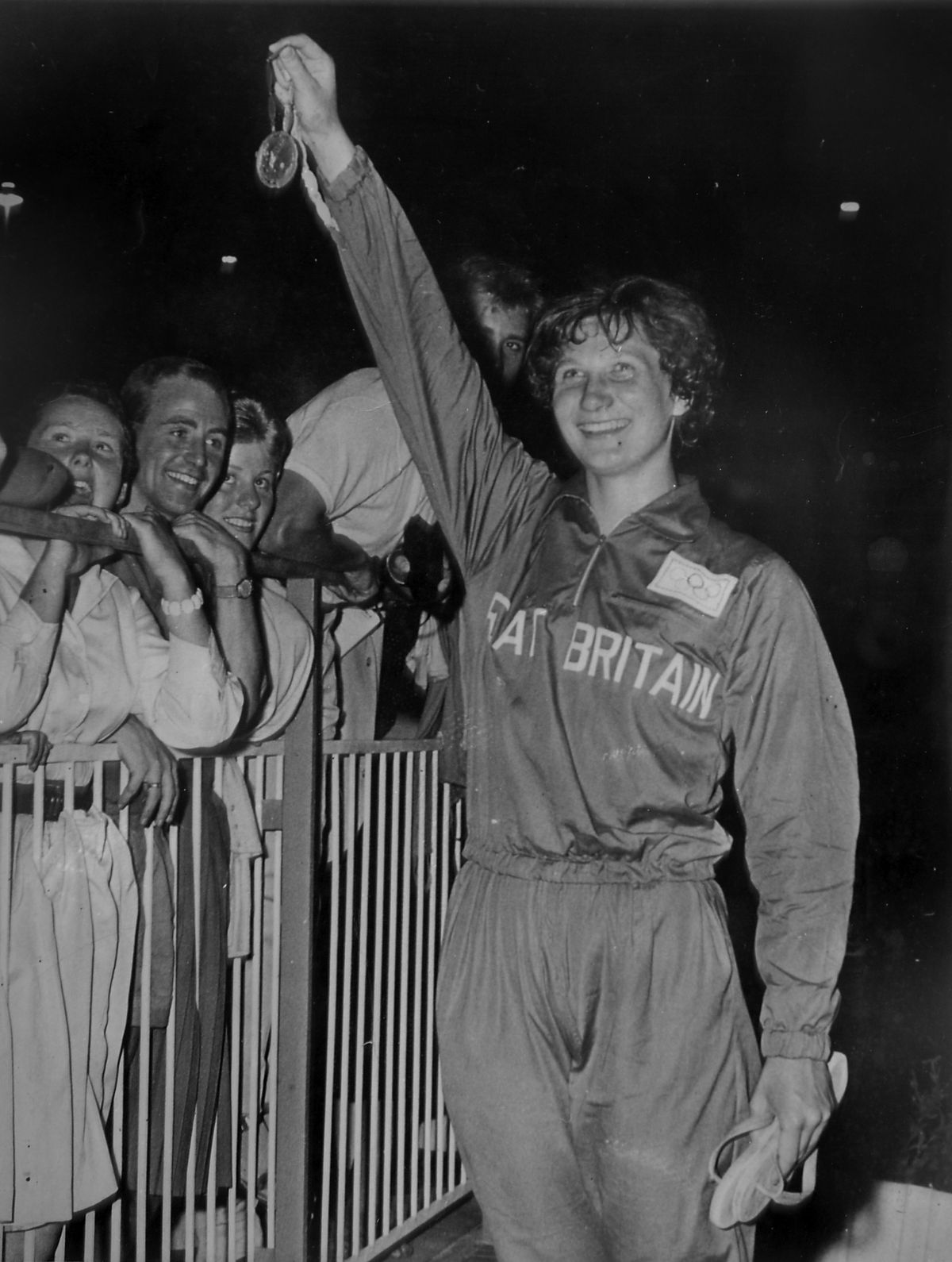 Anita Lonsbrough pictured in 1960 after winning gold in the Olympics