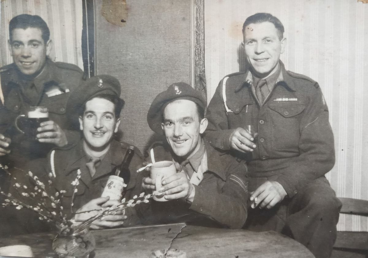 Tom top left and some of Kingsway III tank crew