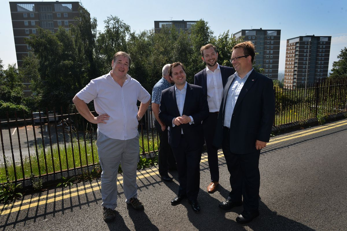 Local Government MP Robert Jenrick was given a tour around Brierley Hill in Dudley earlier this month - Dudley is one of the towns to benefit from the fund