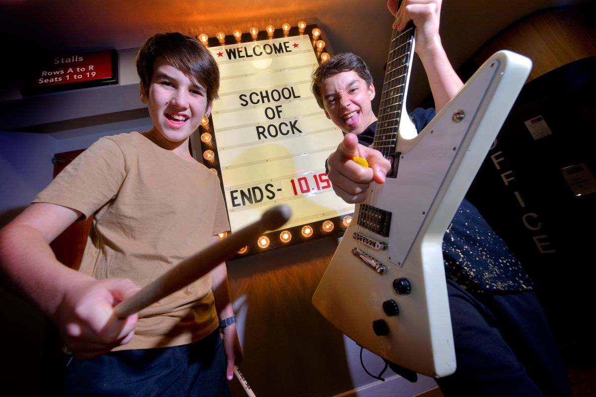 Emerson Arron Sutton, 13, from Wordsley, and Joseph Sheppard, 12, from Dudley, also star in School of Rock