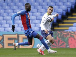 Crystal Palace's Cheikhou Kouyate (left) and Aston Villa's Anwar El Ghazi