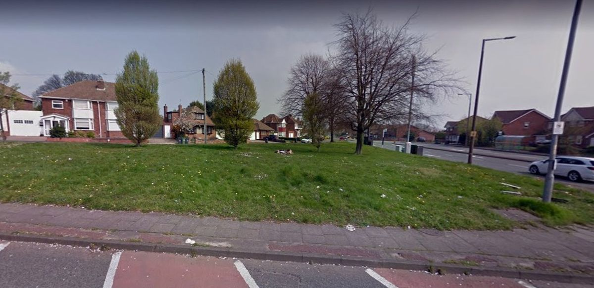 Land on Greenside Way in Walsall where a new 5G mast could be erected. Photo: Google Street View