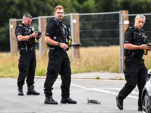 Police deploying drones at the scene. Photo: Snapper SK