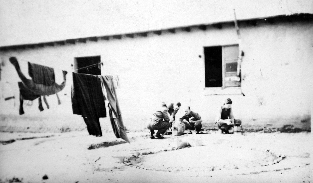Photos of prison camp life were among John Shanks' memorabilia
