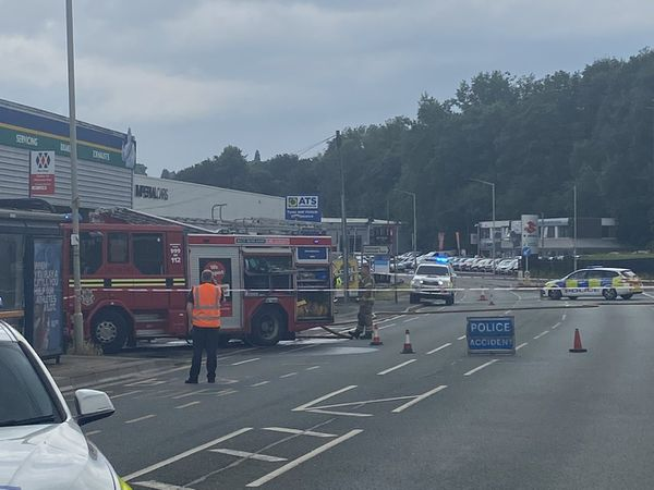 The incident caused Dudley Road to be cordoned off. Photo: West Midlands Police