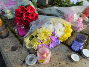 Tributes and flowers have been left for 'Nat'