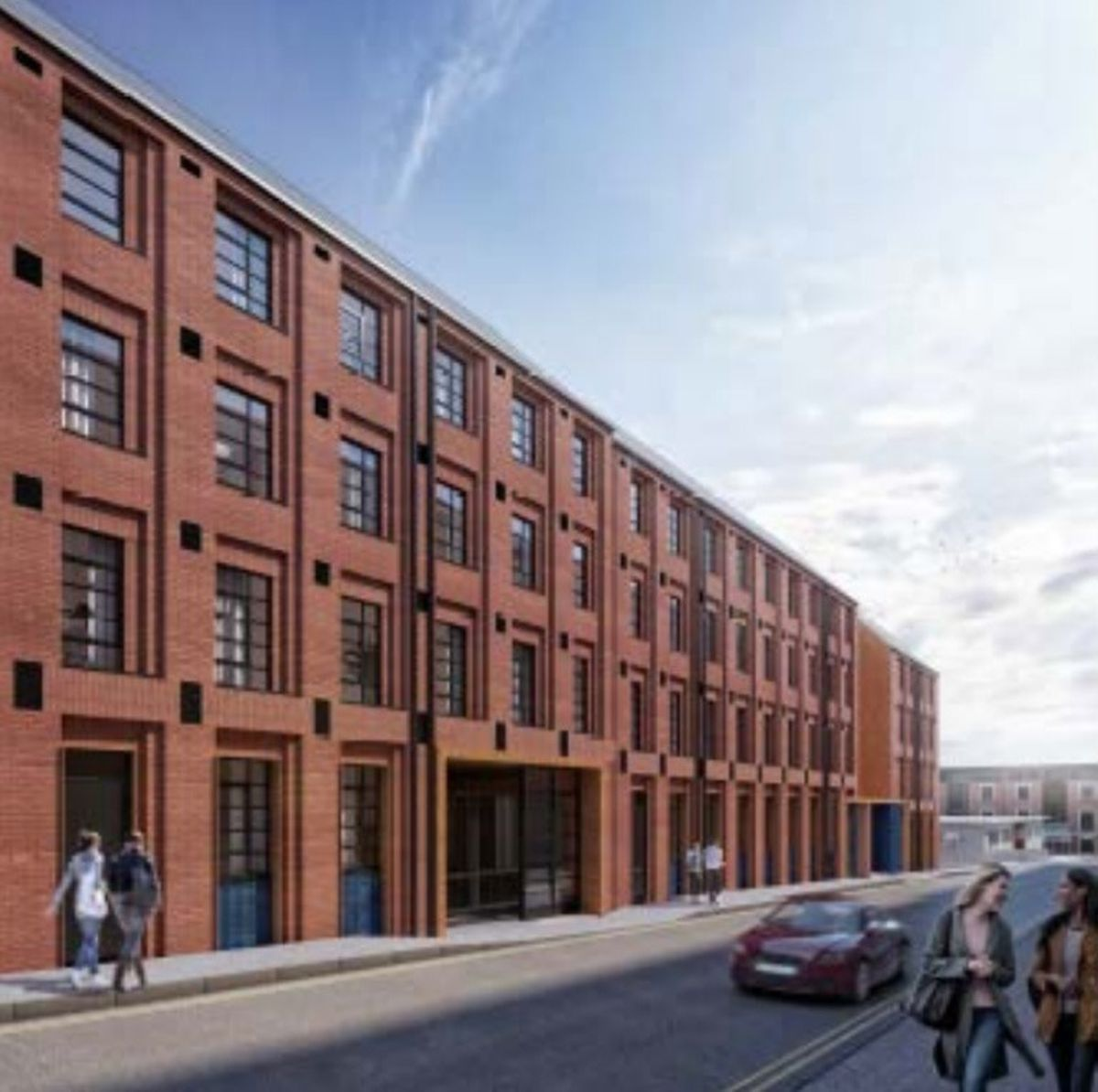 Proposed view to Camden Street. Photo: Birmingham City Council.