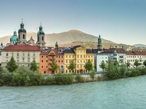 One of the most iconic views in Innsbruck, the traditional houses over look the river Inn