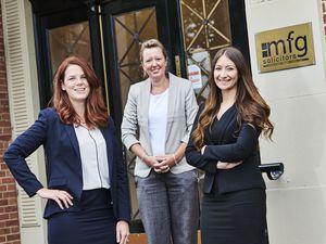 Katie Banks, Katherine Tippetts and Amy McGowan-Docherty