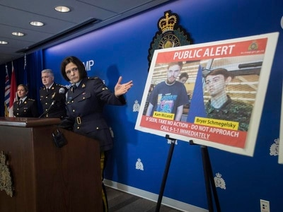 Missing men named suspects in Canada murders probe