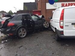 PICTURED: Porsche smashes into West Midlands nursery