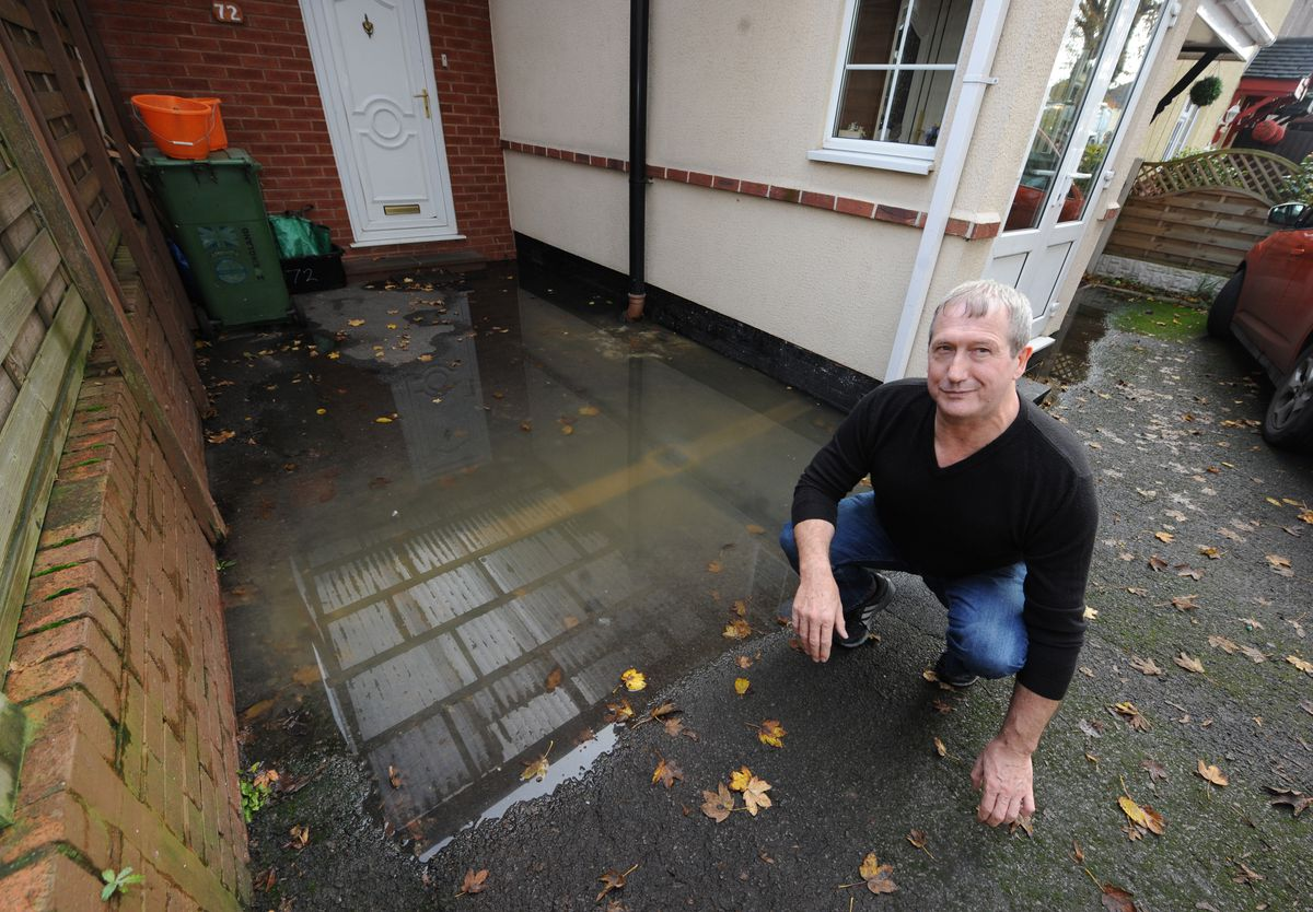 Paul Cheadle said the sewage water has rendered his driveway unusable