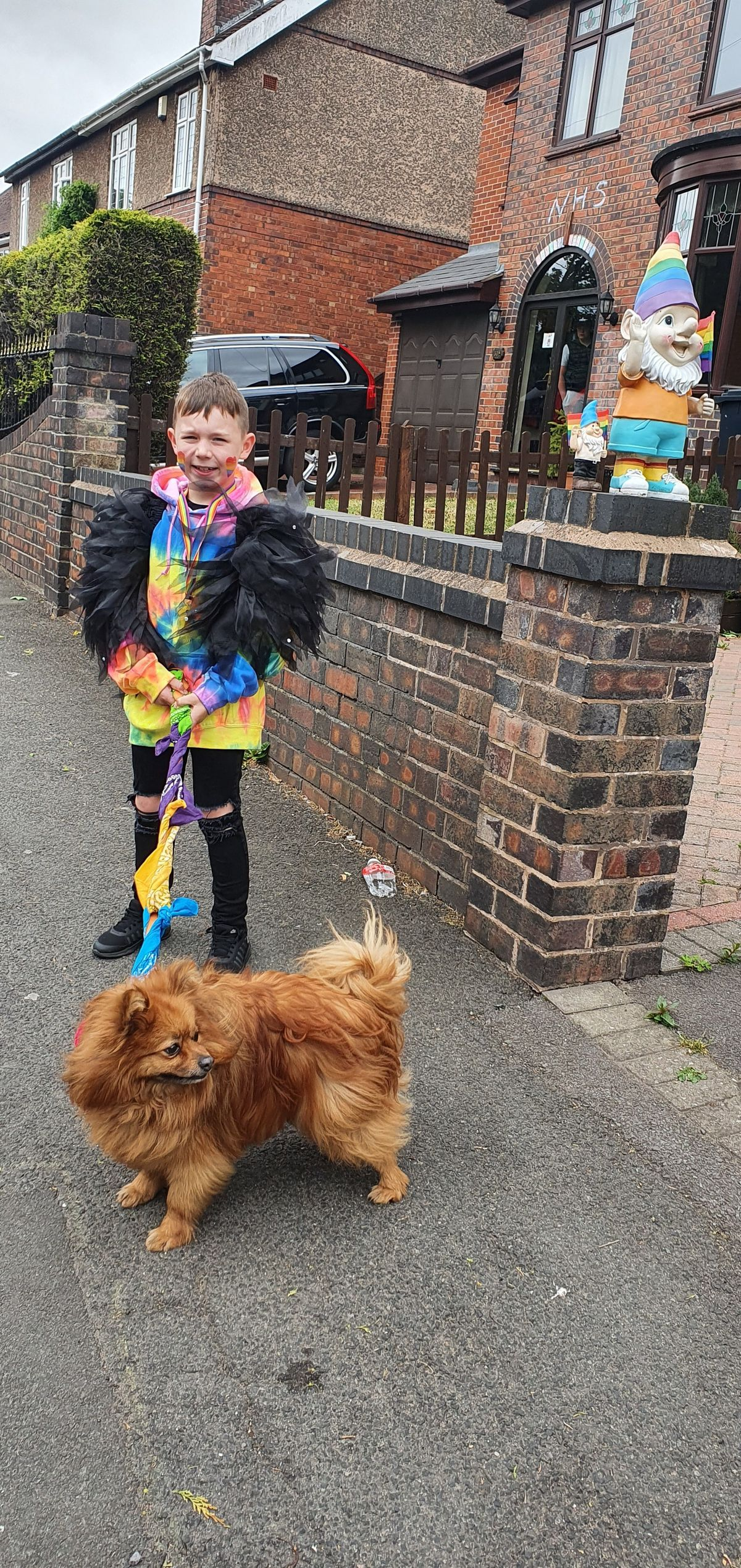 Lee Walker, Ethan Hill, Fern and Jme Eglington have hosted their own LGBTQ Pride parade in their Coseley street