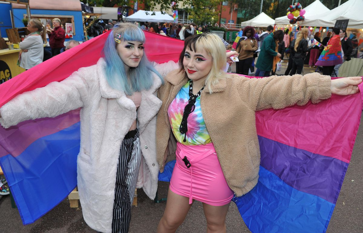 Amy Sewitt and Sophie Grant at Wolverhampton Pride 2019