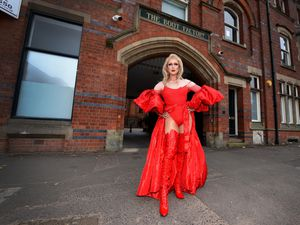 Zac Hollinshead photographed at the iconic Wolverhampton Boot Factory, as he prepares for Bilston Operatic Society's production of Kinky Boots at Wolverhampton Grand Theatre