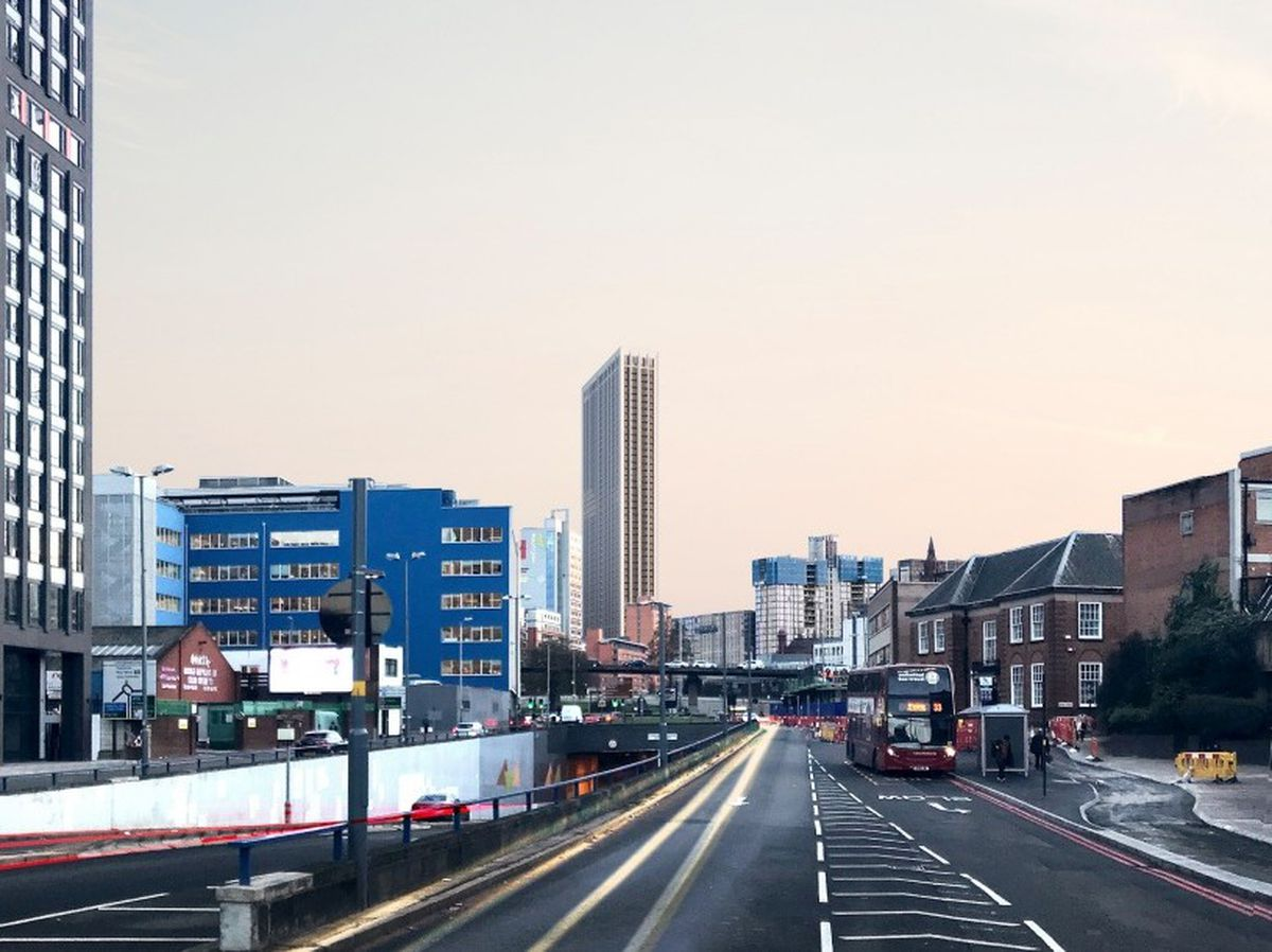A CGI showing how the One Eastside skyscraper would look in Birmingham