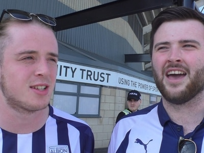 'Happy with a point' West Brom fans give their take on their side's draw at Pride Park - VIDEO