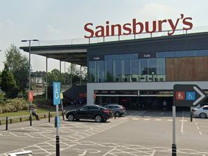 Sainsbury's superstore by the Ring Road near Wolverhampton city centre, showing the main entrance to the left. Photo: Google