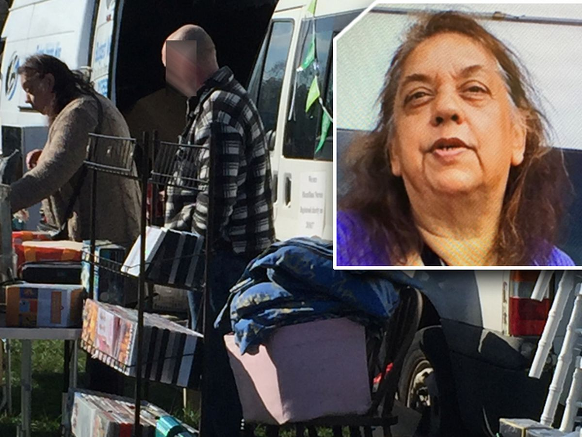 Yvonne Khan, inset, was filmed running stalls at a car boot sale in aid of a charity but she failed to hand over the proceeds
