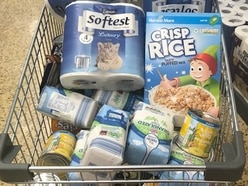 Thursfields donates monthly shop of groceries to busy foodbank
