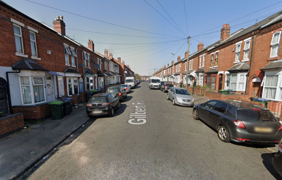 Gilbert Road in Bearwood, Smethwick. Photo: Google