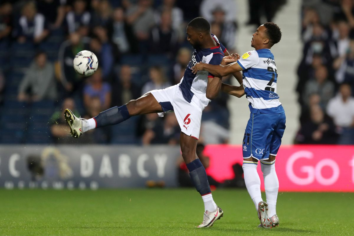 Semi Ajayi of West Bromwich Albion and Chris Willock  (Photo by Adam Fradgley/West Bromwich Albion FC via Getty Images).