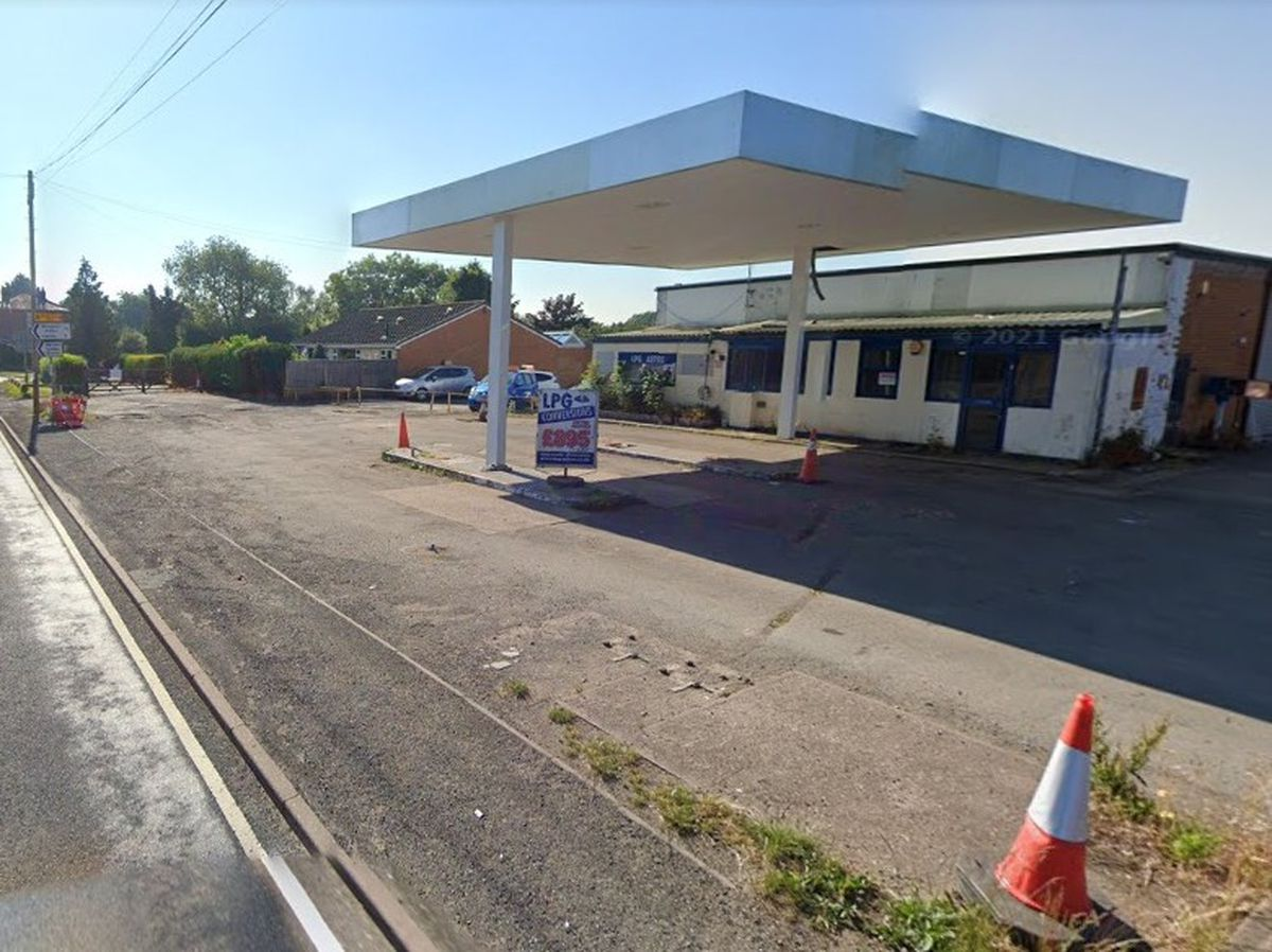 The filling station site on the A5 Watling Street near Stretton and Brewood. Photo: Google