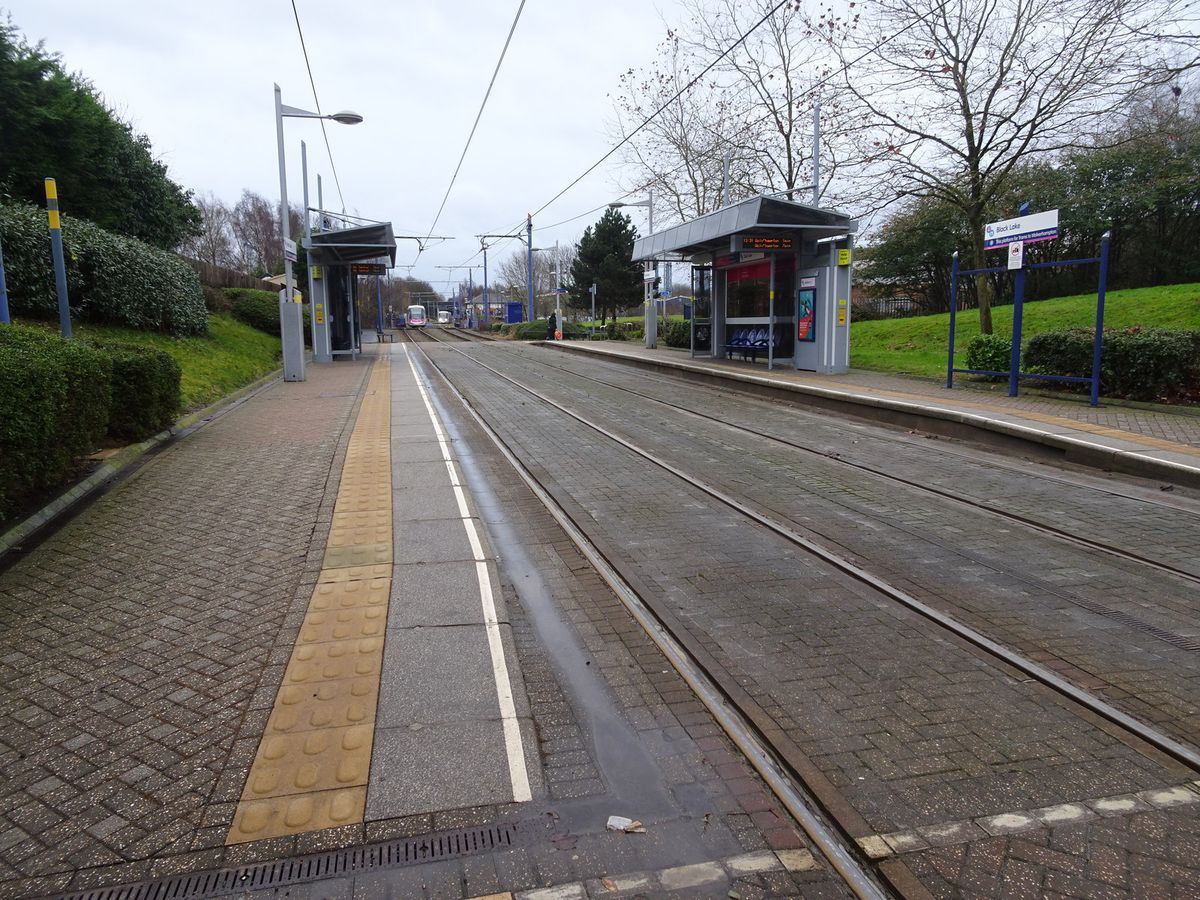 The service was halted near Black Lake Metro station after reports of anti-social behaviour