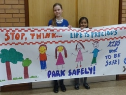 Tipton pupils take road safety message to school gates
