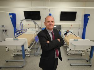 Vice chancellor Professor Geoff Layer at the university's Telford campus