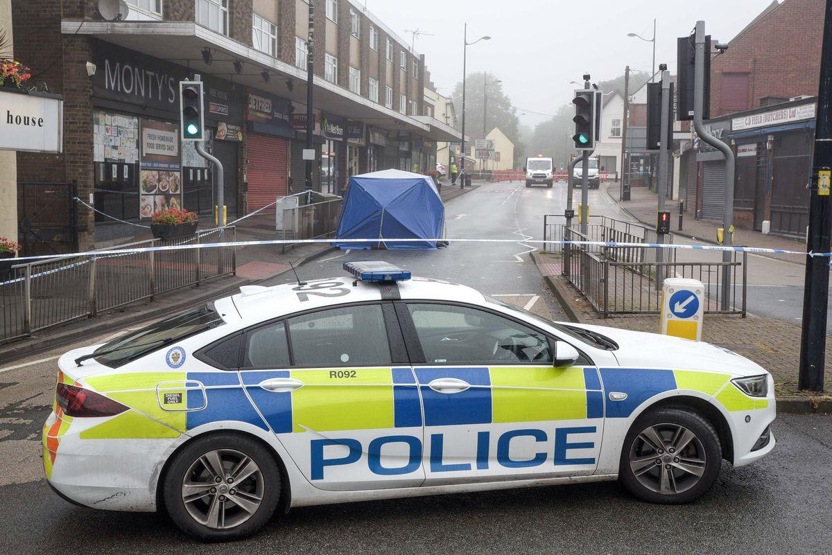 Police at the scene in Sedgley. Photo: SnapperSK