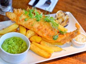 Fish and chips from The Anchor in Coven