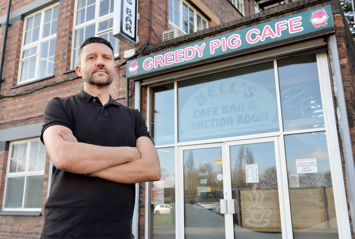 Greedy Pig cafe's owner Keith Mills