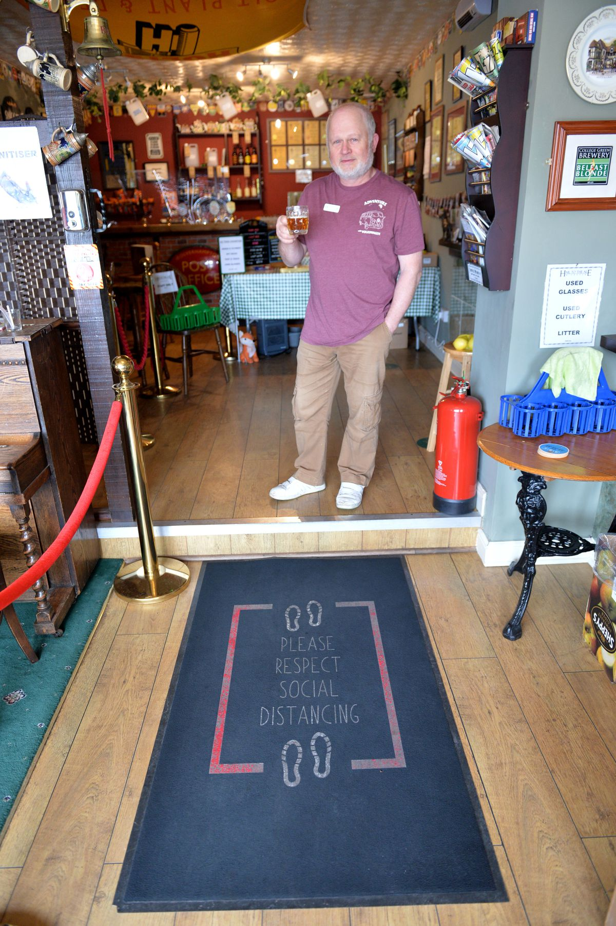 Gary Morton is ready to roll out the welcome mat to customers at Hail to the Ale