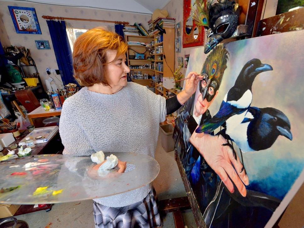 "'I am stronger for what I've gone through,"" says renowned Staffordshire artist following brain tumour"