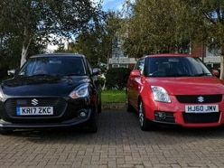 Our Suzuki Swift meets its athletic grandfather