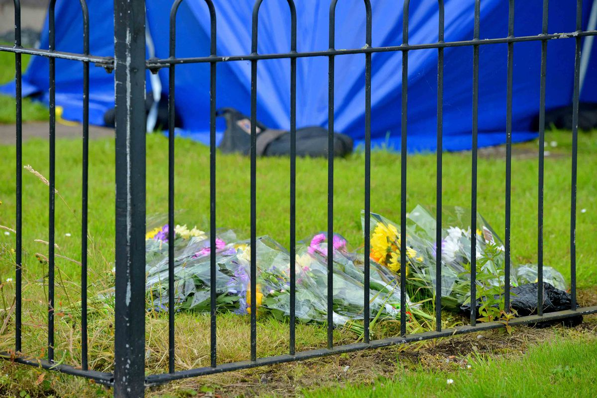 Flowers at the scene in Chervil Rise