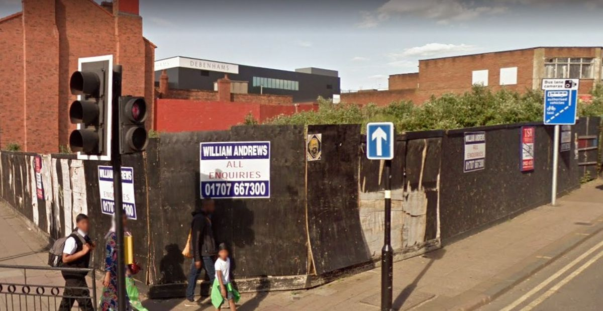 The vacant land on Victoria Street in Wolverhampton city centre. Photo: Google StreetView.