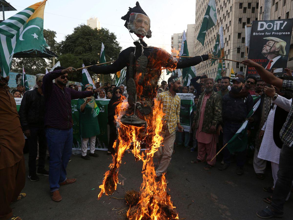 Burned effigy
