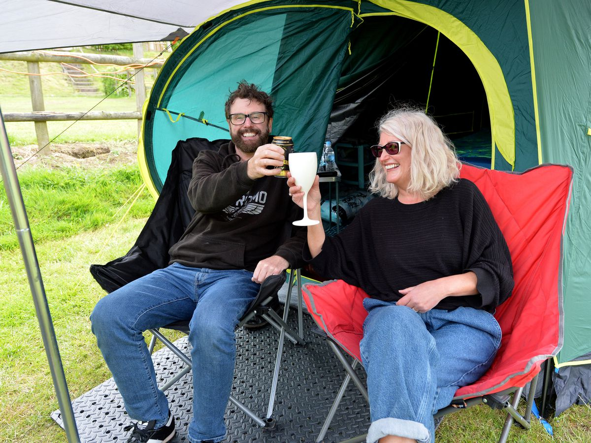 Dave and Tina Cope have been coming to the site for years and loved the fact that it was always developing