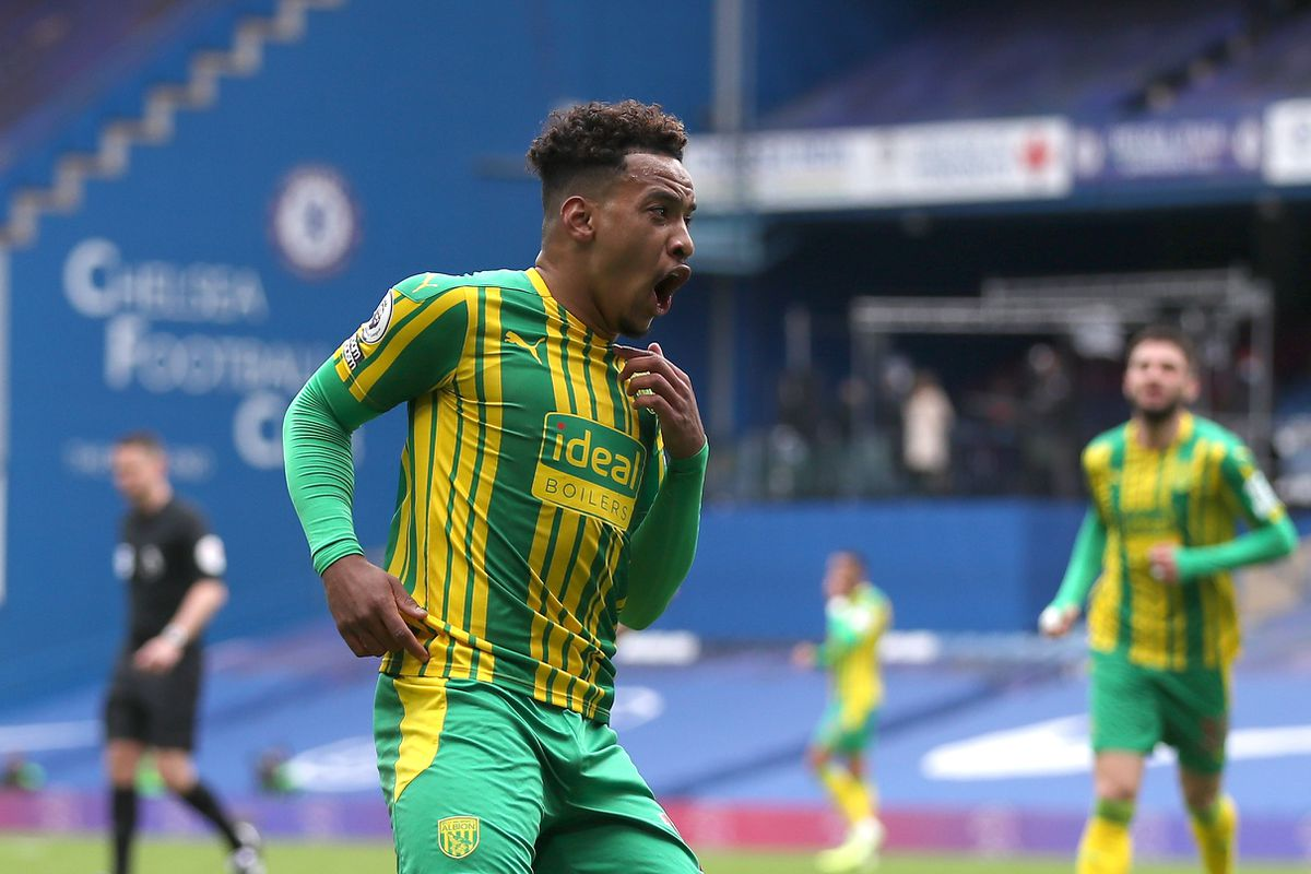 Matheus Pereira of West Bromwich Albion celebrates after he cores a goal to make it 1-2. (AMA)