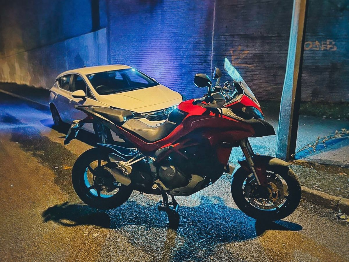 The Ducati bike was recovered in woodland near the M6. Photo: South Staffordshire Police